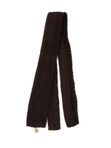 Dark brown slim knit tie