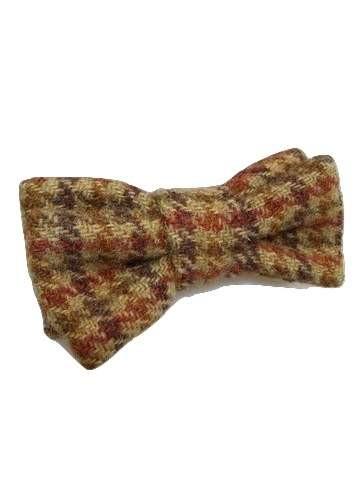 Check tweed bow tie