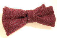 Pink tweed bow tie