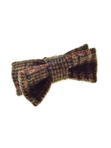 Wool tweed bow tie