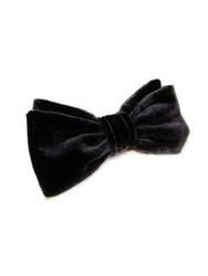 Back velvet bow tie