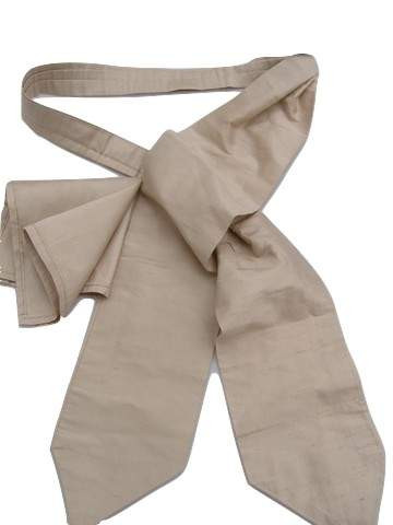 Beige silk wedding cravat set
