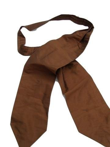 Brown silk wedding cravat