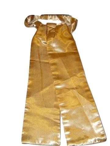 Dark gold cravat wedding