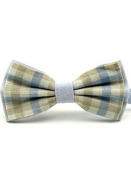 Gingham bow tie
