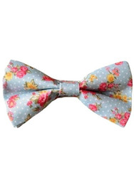 Mens ditsy floral bow tie