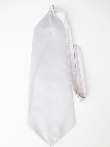 Light silver grey wedding cravat