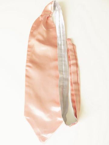 Peach silver wedding cravat