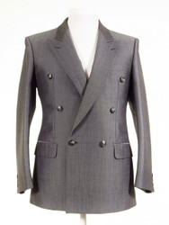 Silver grey wedding suit jacket
