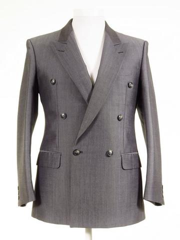 Silver grey wedding suit jacket