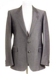 Silver grey mens wedding suit jacket