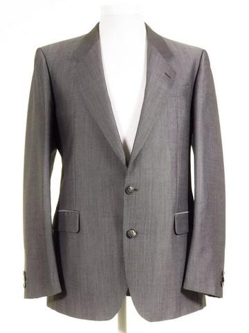 Silver grey mens wedding suit jacket