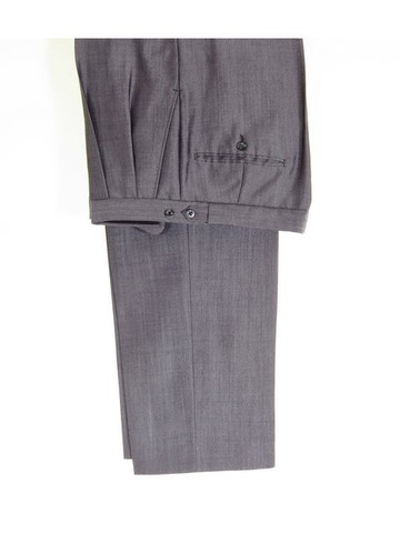 Silver grey wedding suit trousers