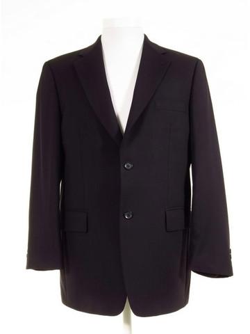 Navy blue lounge suit jacket