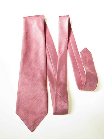 Dusky pink wedding tie