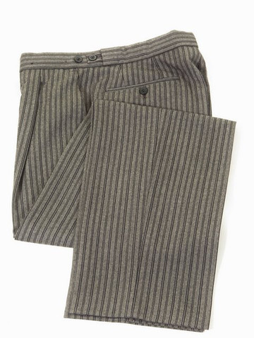Striped wool morning trousers