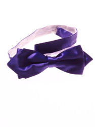 Purple pointed bow tie