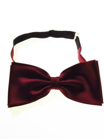 Ready-tied bow tie burgundy