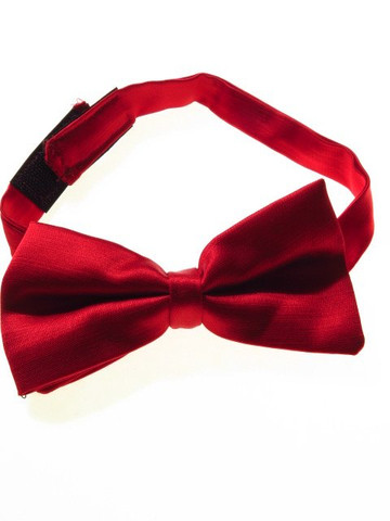 Red textured bow tie