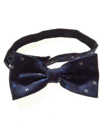Pre-tied bow tie navy white blue