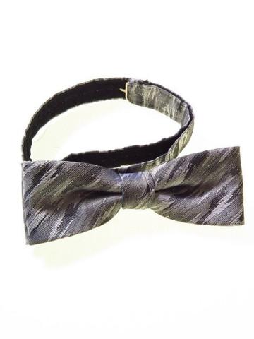 Silver grey metallic bow tie