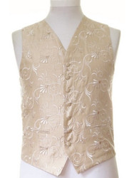 Gold patterned wedding waistcoat