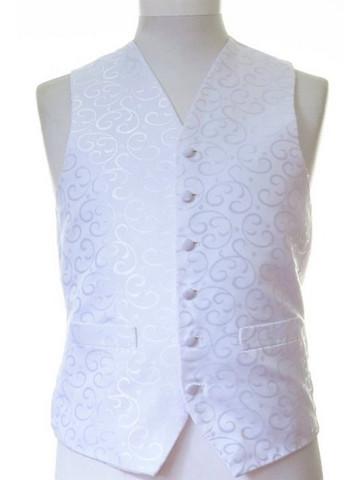 White wedding waistcoat