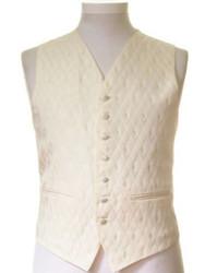 Ivory gold diamond wedding waistcoat
