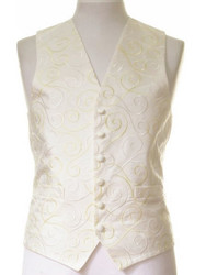 Ivory lemon wedding waistcoat