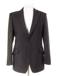 Dark grey slim fit suit jacket