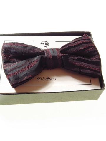 Wine black bow tie