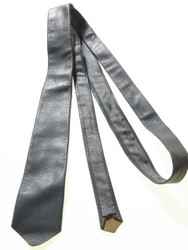 Narrow grey leather tie