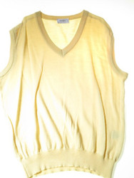 Yellow knitted tank top mens