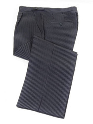 Navy grey striped morning trousers