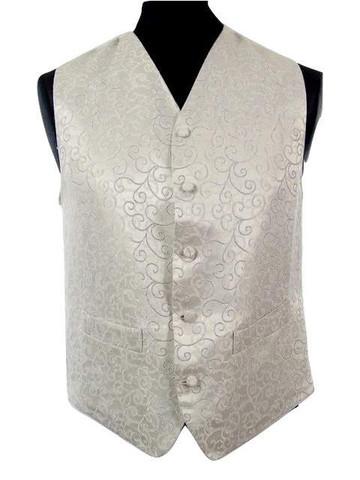 Mens silver wedding waistcoat