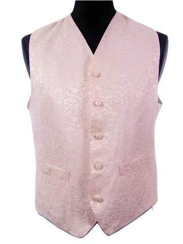 Mens pink wedding waistcoat