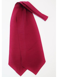 Burgundy red wedding cravat