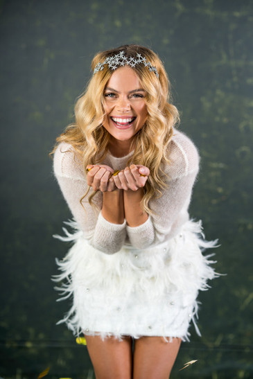 Fun and flirty mini skirt encrusted with naturally fallen feathers, diamantes and tiny beading. Perfect to change into to party the night away. The Le Grand bridal skirt can be paired with anything from a cami vest top to a snug jumper for winter weddings.