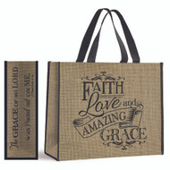 Faith, Love and Amazing Grace Giant Nylon Tote Bag