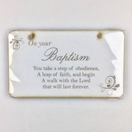 On your Baptism Plaque