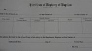 Certificate of Registry of Baptism
