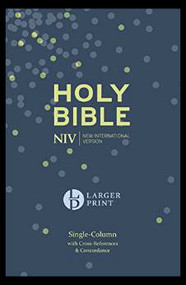 NIV Larger Print Compact Single Column Reference Bible: Hardback