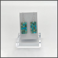 Mosaic turquoise design- approximately 2 1/4 inches in length
