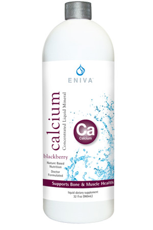 Eniva Calcium Liquid Minerals for Life Liquid Concentrate, 32oz, bone formation, maintenance of teeth, regulatory functions in body, fat and protein digestion, energy production, nerve transmission, heartbeat, absorption of other nutrients, Calcium promotes cell membrane permeability, Product ID 8202