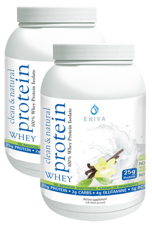 Eniva PowerPulse Organic Whey Protein Powder, highly purified and specialized hydrolyzed whey protein isolates, natural protein peptide hydrolyzates, Bioactive Protein Peptide System (BPPS), lean muscle mass development, all-natural purified, natural source branched chain & essential amino acids, supports heart and immune health,* Product ID # 11011Two