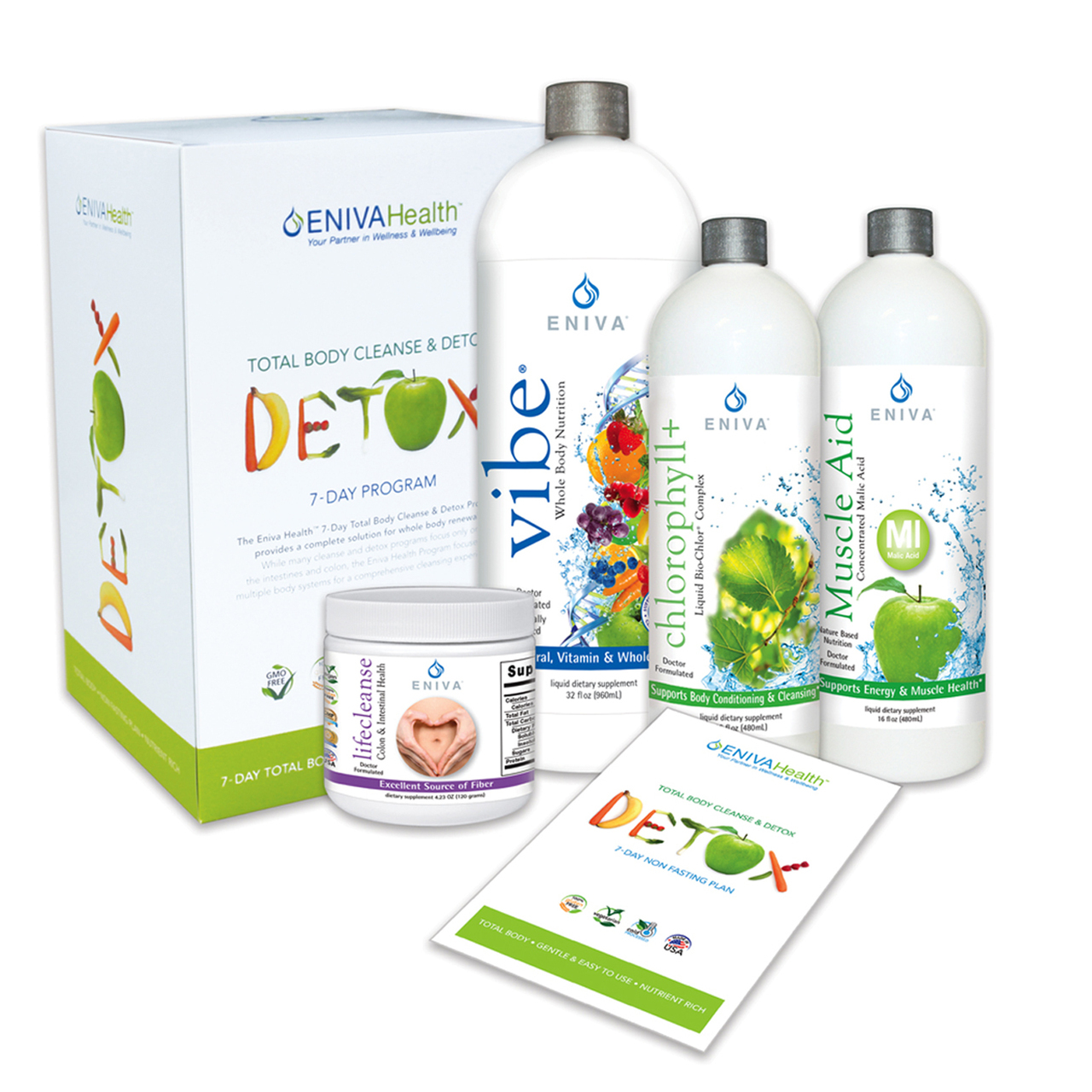 Detox and Whole Body Natural Cleanse Kit - VIBE Fruit Flavor (32 oz)