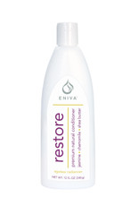 Eniva Restore Premium Natural Conditioner, 12 oz, restores hair's brilliance, premium natural conditioner, boost volume, restore moisture, exotic oils and extracts, nourish hair and scalp, silky, shiny, soft hair,* Natural Botanicals and Vitamins, Jasmine Flower, Green Tea Leaf, Agave Extract, Chamomile, Pro-Vitamin B5, Keratin Amino Acids, Shea Butter, Olive Oil, Ylang Ylang Flower Oil, Product ID 55010