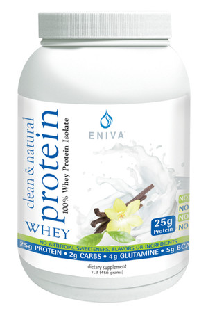 Eniva Natural Whey Protein powder, highly purified and specialized hydrolyzed whey protein isolates, natural protein peptide hydrolyzates, Bioactive Protein Peptide System (BPPS), lean muscle mass development, all-natural purified, natural source branched chain & essential amino acids, supports heart and immune health,* Product ID 11011