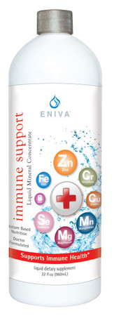 Eniva Cell-Ready Immune Support Liquid Concentrate, 32 oz, mineral supplement, Boron, Calcium, Chromium, Copper, Germanium, Iron, Magnesium, Manganese, Phosphorus, Selenium, Zinc, Solutomic technology, healthy immune system, bio-available minerals, maintain well-being, immune boost,* Product ID # 8903