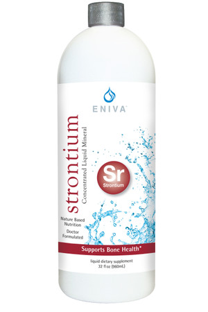 Eniva Minerals for Life Strontium Liquid Concentrate, 32 oz, dietary supplement, Cell-Ready mineral STRONTIUM,  proprietary nutrient delivery system, bone health, skeletal system, elements, alkaline properties, structure, function skeletal system, bone density, bone metabolism, Product ID 8217
